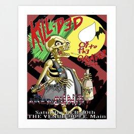 Kill Ded: Oi! to the GRAVE Tour Art Print