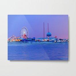 Ocean City Night Metal Print