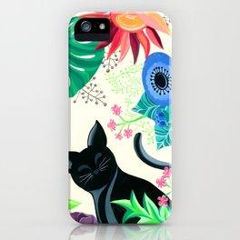 Natures Confetti Cat  iPhone Case