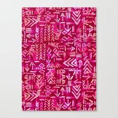 Tapa Tribal Red Canvas Print