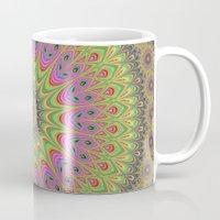 mandala Mugs featuring Floral ornament mandala  by David Zydd