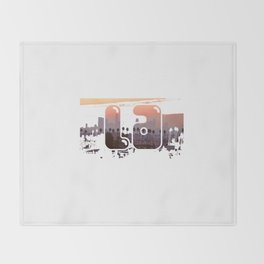 la City Scape Throw Blanket