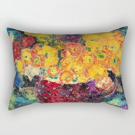 Augusto Giacometti - Still life with ranunculus - Digital Remastered Edition Rectangular Pillow