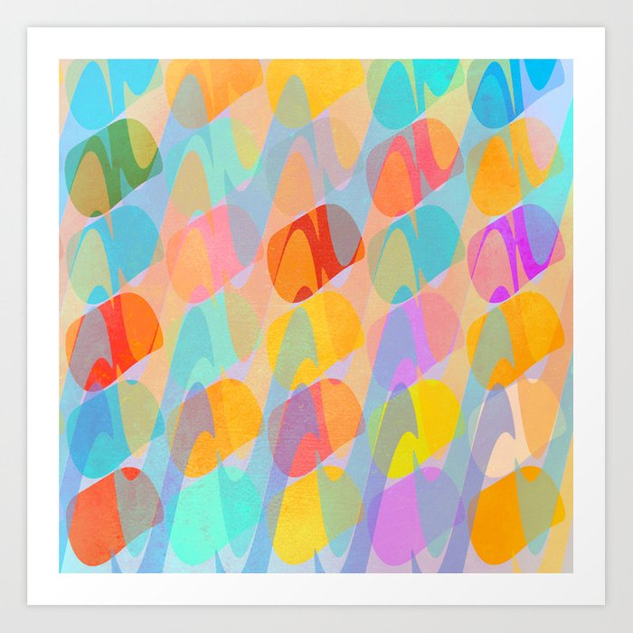 Waves and Spots Art Print