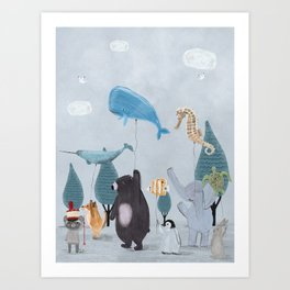 nature parade Art Print