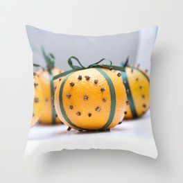 Christmas Orange Throw Pillow