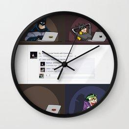 Super Hero Social Networking Wall Clock