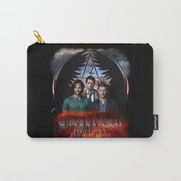 Supernatural Family Dont end with blood Carry-All Pouch