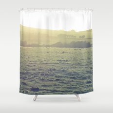 Light in the fields Shower Curtain