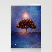 lights Stationery Cards featuring Energy & lights by Viviana Gonzalez