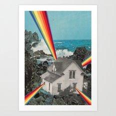 Rainbow House Art Print