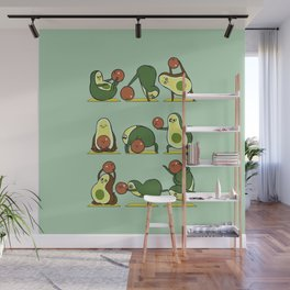 Avocado Yoga With The Seed Wall Mural