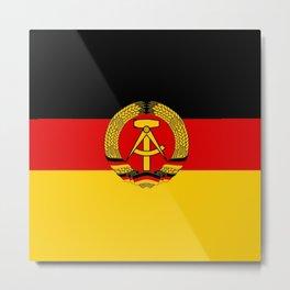 flag of RDA Or east Germany Metal Print