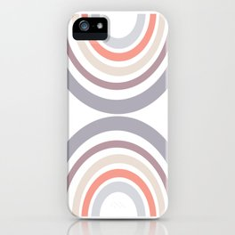 Modern Double Rainbow Hourglass in Muted Earth Tones iPhone Case