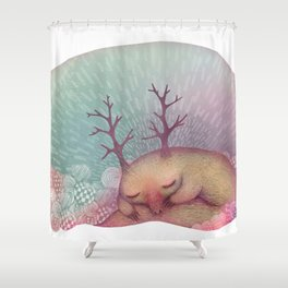 Deep Winter Dreaming (With Eyes Closed) Shower Curtain