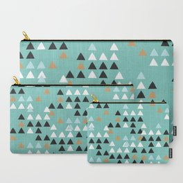 Scandinavian geometric triangle Carry-All Pouch