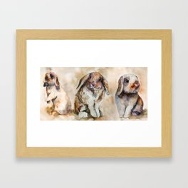 BUNNIES #1 Framed Art Print