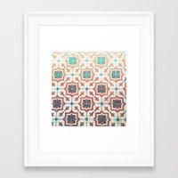 orange pattern Framed Art Prints featuring Orange pattern by Travel Cards