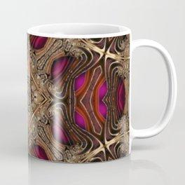 Crown Jewels - red pink gold geometric spiral pattern  Coffee Mug