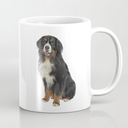 Bernese Mountain Dog. Drawing funny dog Coffee Mug