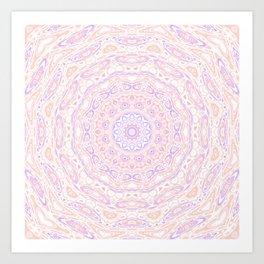 Funky mandala Art Print