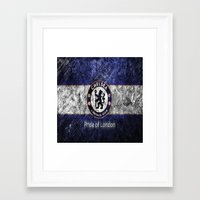 chelsea Framed Art Prints featuring CHELSEA by Acus