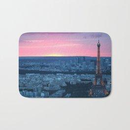 Paris City Sunset Bath Mat