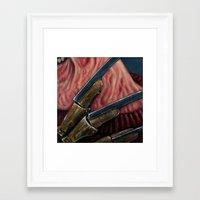 freddy krueger Framed Art Prints featuring FREDDY KRUEGER by chris zombieking