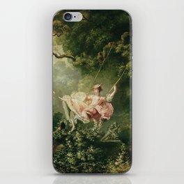 Jean-Honore Fragonard - The swing iPhone Skin