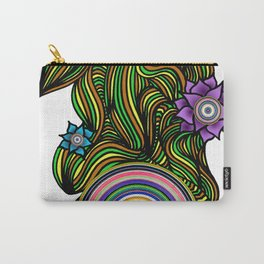 Flower Power Wheel Carry-All Pouch