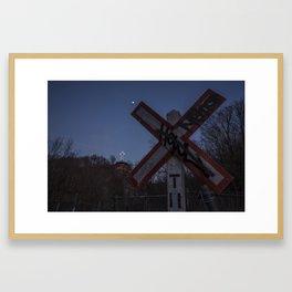 CROSS-ing Framed Art Print