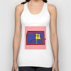 love and cats Unisex Tank Top