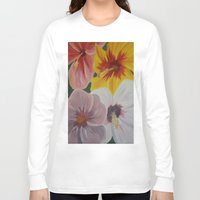 hibiscus Long Sleeve T-shirts featuring Hibiscus by Lark Nouveau Studio