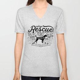 Rescue Dog Trading Co. Typography Graphic Unisex V-Neck