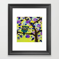 :: Gemmy Owl in the Jewel Tree :: Framed Art Print