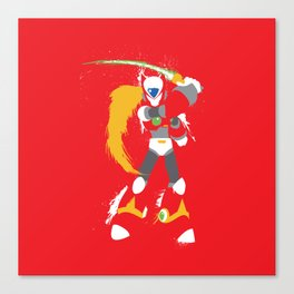 Zero (Mega Man X) Splattery Design Canvas Print