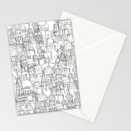 Russian cathedral church line drawing Stationery Cards
