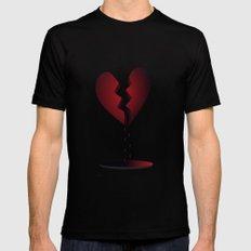 LOVE... Mens Fitted Tee Black MEDIUM