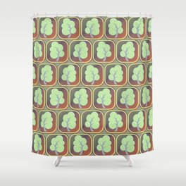 Trees tiled pattern Shower Curtain