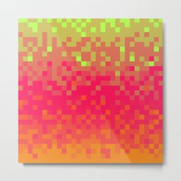Pixel color Metal Print