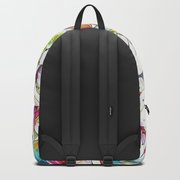 Joyful Spring Floral Abstract Backpack