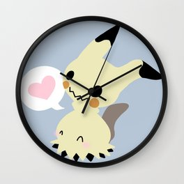 Little Spoopy Friend Mimikyu Wall Clock