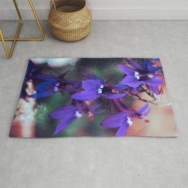 Violet Blue, Lobelia Flowers Rug