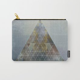 Perseid - Contemporary Geometric Pyramid Carry-All Pouch