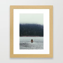 The Only One Brave Enough To Go In Framed Art Print