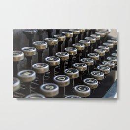 Dusty typewriter Metal Print