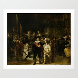 The Nightwatch, Rembrandt, 1642 Art Print