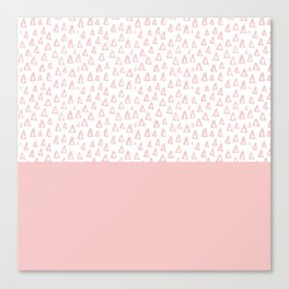 Triangles Pink Canvas Print