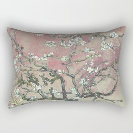 Almond Blossom - Vincent Van Gogh (pink pastel and cream) Rectangular Pillow
