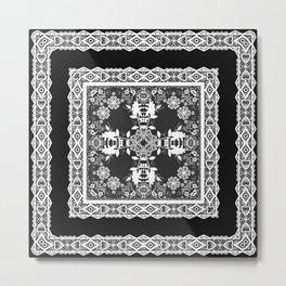 Black and white ornament Metal Print